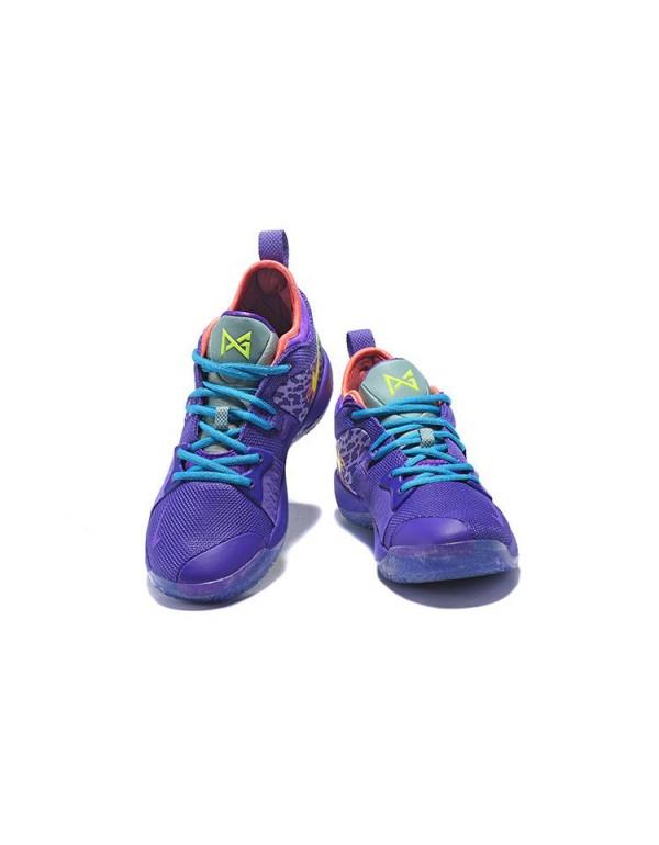 Men's Nike PG 2 Mamba Mentality Cannon/Volt-Purple...