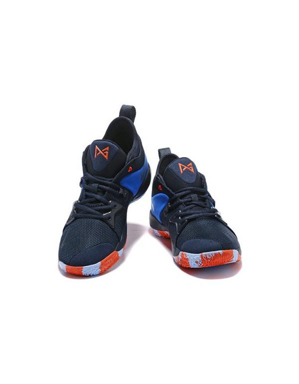 Men's Nike PG 2 OKC Home Dark Obsidian/Navy-Kineti...