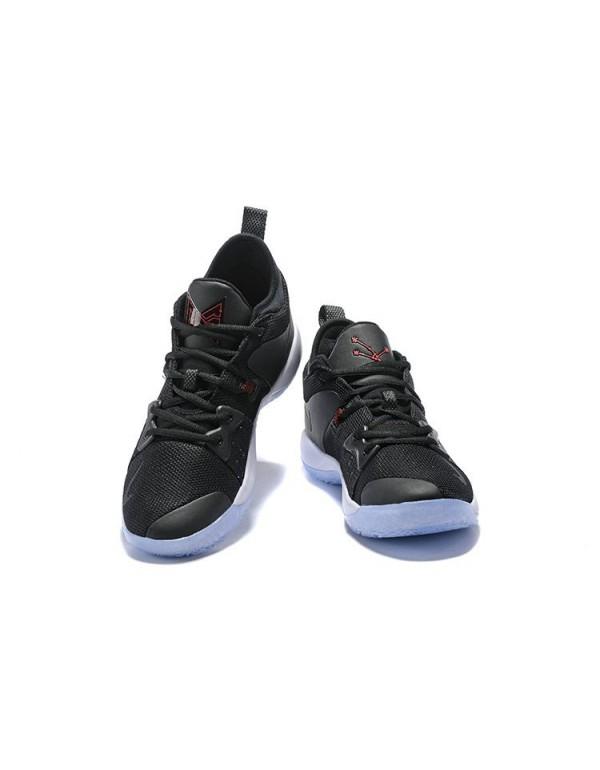 Men's Nike PG 2 Taurus Black/White-Solar Red Baske...