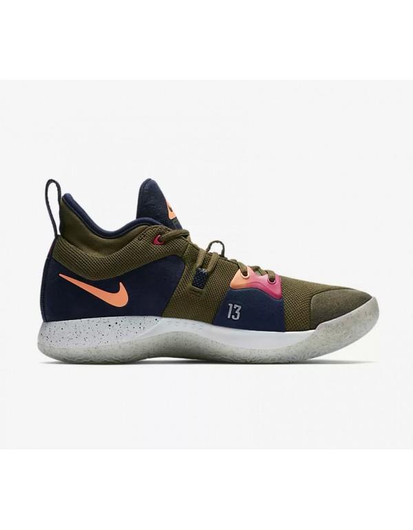 2018 Nike PG 2 ACG EP Olive Canvas Basketball Shoe...