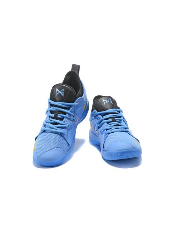 Nike PG 2 Blue Black Yellow Men's Basketball Shoes