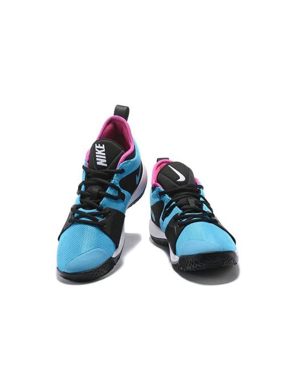 Men's Nike PG 2 Blue Lagoon/Hyper Violet-White AJ2...