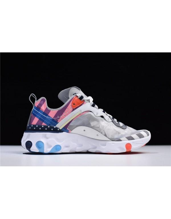 Parra x Nike React Element 87 White/Multi-Color AQ...