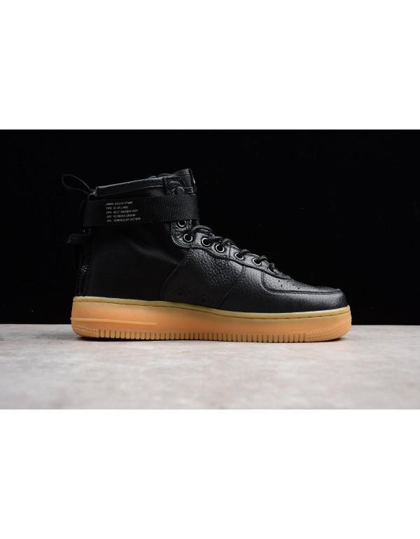 Mens Nike SF-AF1 Mid Black Gum Black/Black-Gum Lig...
