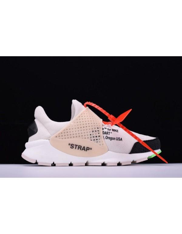Cheap Off-White x Nike La Nike Sock Dart White/Bla...
