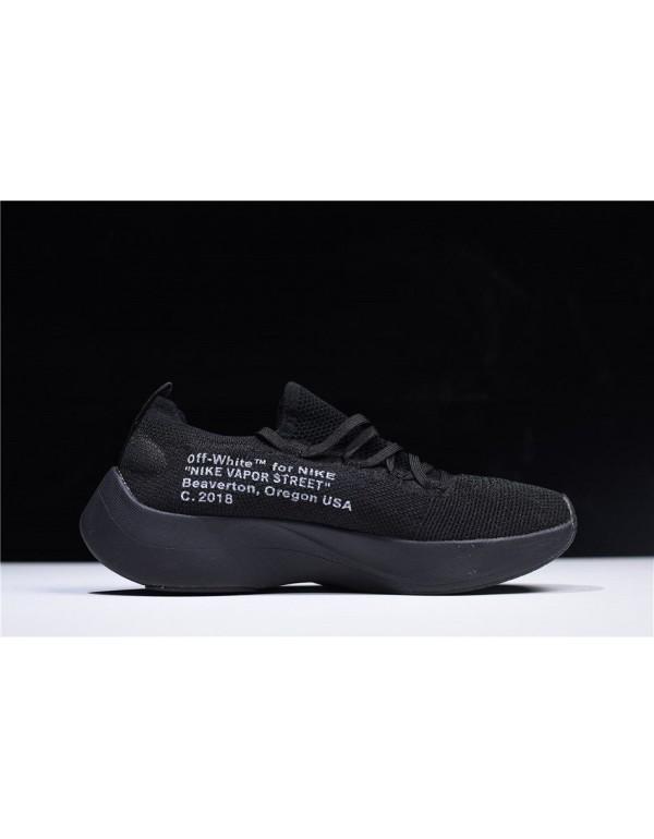2018 Off-White x Nike Vapor Street Flyknit Black/A...
