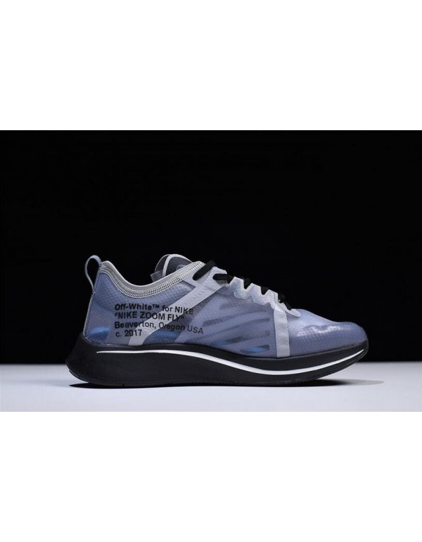 Mens and WMNS Off-White x Nike Zoom Fly SP Black/G...