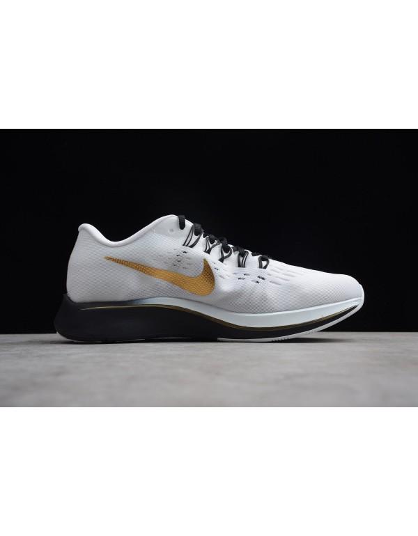 Nike Zoom Fly Mismatched Black/White-Metallic Gold...