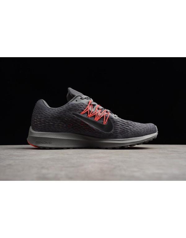 Nike Zoom Winflo 5 Dark Grey/Black-Red Men's Runni...