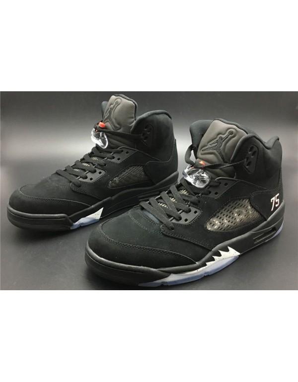 "Air Jordan 5 ""PSG"" Black/White-Challenge..."