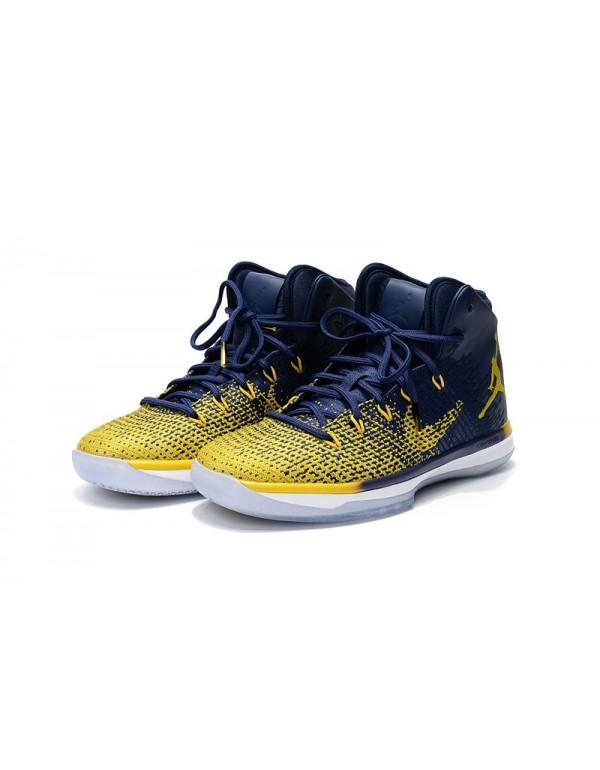 """Air Jordan XXX1 """"Michigan"""" Blue/Maize 84..."""