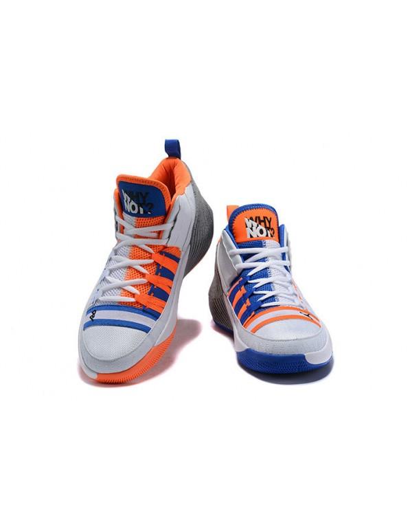 Jordan Why Not Zer0.1 Chaos White/Orange-Blue-Grey