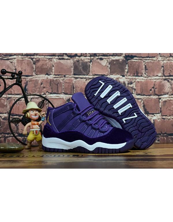 "Kid's Air Jordan 11 ""Purple Velvet"" Purp..."