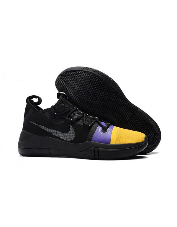 Kobe Bryant Nike Kobe AD Black/Yellow-Purple