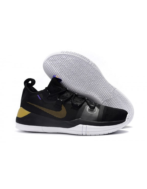 Kobe Bryant Nike Kobe AD Black/Metallic Gold-Purpl...