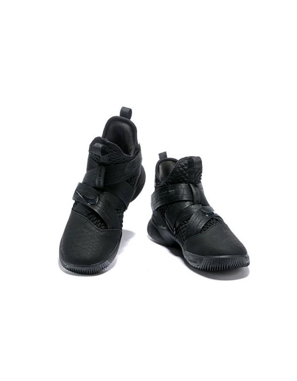 """Nike LeBron Soldier 12 """"Triple Black"""" Sn..."""