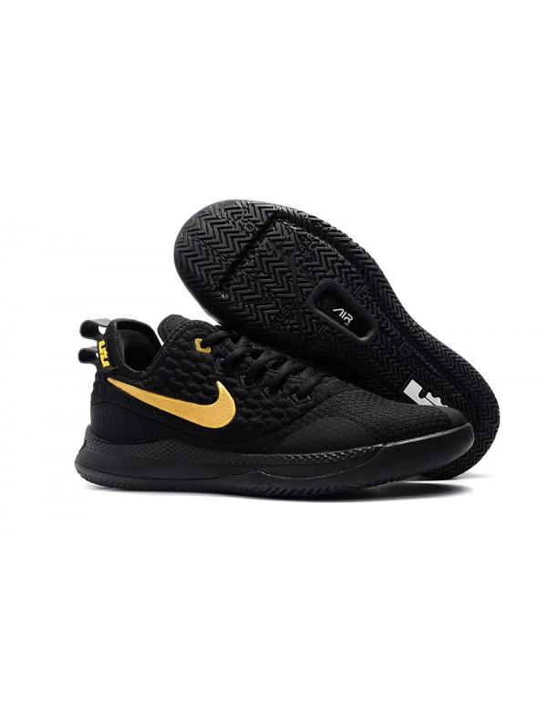 Nike LeBron Witness 3 Black Gold Basketball Shoes