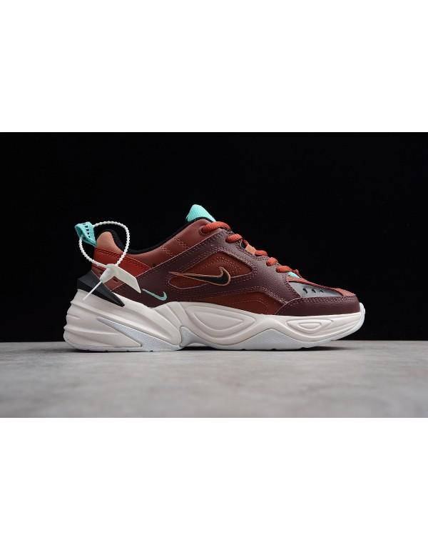 Womens Nike M2K Tekno Mahogany Mink/Black-Burnt Or...