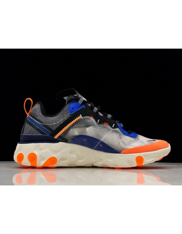 Nike React Element 87 Wolf Grey/Thunder Blue-Total...